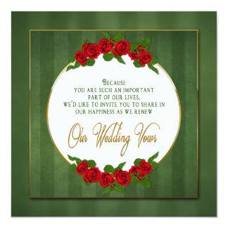 Invitation de renouvellement de voeux de mariage -