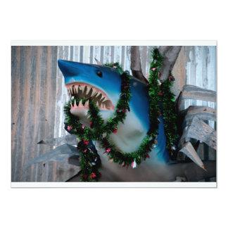 Invitation de requin de Noël Carton D'invitation 12,7 Cm X 17,78 Cm