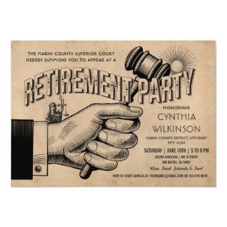 Invitation de retraite d'avocat - cru de partie