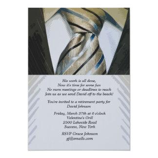 Invitation de retraite de costume et de cravate