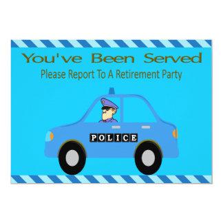 Invitation de retraite de dirigeant de voiture de