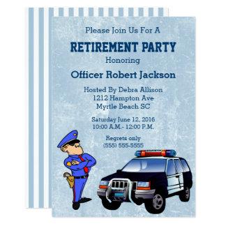 Invitation de retraite de policier