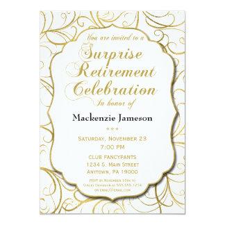 Invitation de retraite de surprise de remous d'or