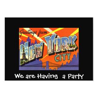 Invitation de réunion intime de New York Carton D'invitation 12,7 Cm X 17,78 Cm