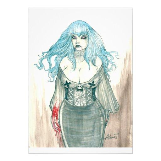 Invitation de Shannon de vampire