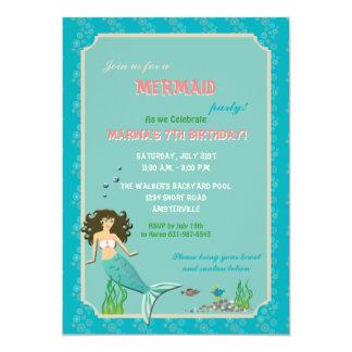Invitation de sirène de réception au bord de la carton d'invitation  12,7 cm x 17,78 cm