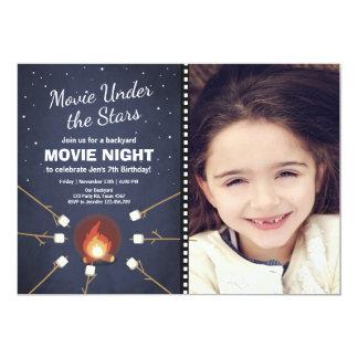 Invitation de soirée cinéma sous le feu d'étoiles
