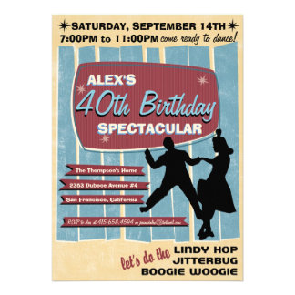 invitation de soirée dansante de l oscillation 40s