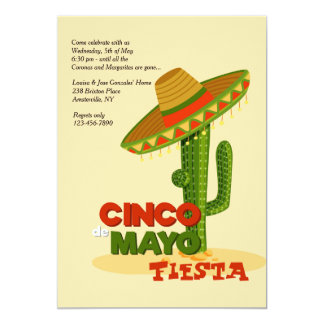 Invitation de sombrero de Cinco De Mayo