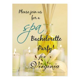 Invitation de spa de partie de Bachelorette -