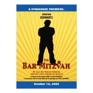 Invitation de star de cinéma de Mitzvah de barre