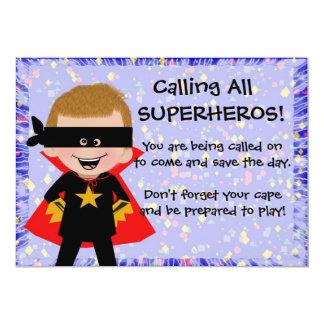 Invitation de super héros