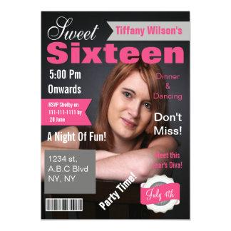 Invitation de sweet sixteen de photo de couverture