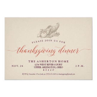 Invitation de thanksgiving