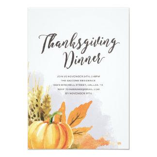 Invitation de thanksgiving d'aquarelle