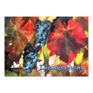 Invitation de thanksgiving de raisins de temps de