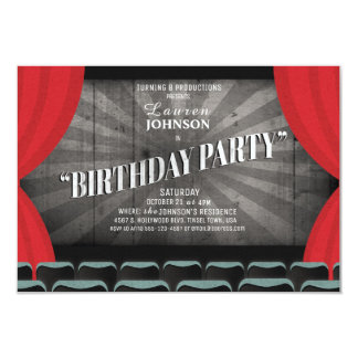 Invitation de théâtre de fête d'anniversaire de