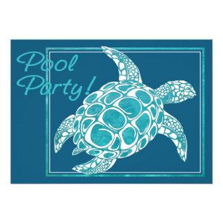 Invitation de tortue de mer de turquoise