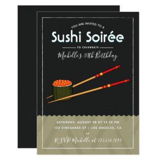 Invitation de toute d'occasion de sushi coutume de