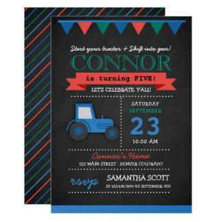 Invitation de tracteur de tableau/de fête