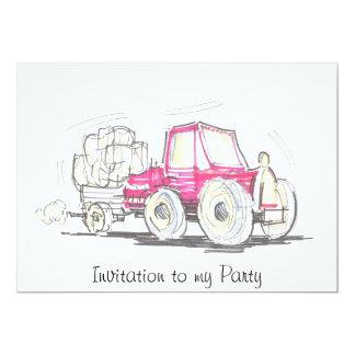 Invitation de tracteur et de remorque à ma partie