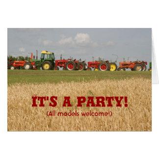 Invitation de tracteur : Tout l'accueil de modèles