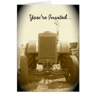 Invitation de tracteur -- Vieux tracteur Cartes De Vœux
