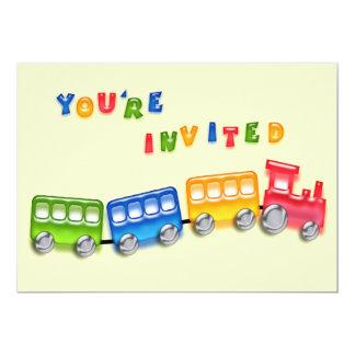 Invitation de train de jouet