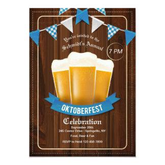 Invitation de trois bières d'Oktoberfest