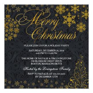 Invitation de vacances de Joyeux Noël de flocon de