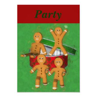 Invitation de vacances de Noël de bonhommes en