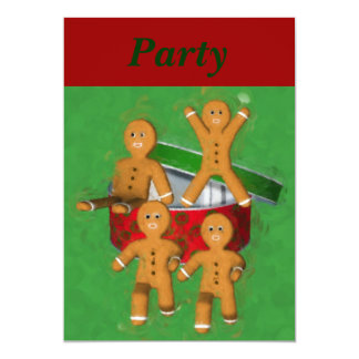 Invitation de vacances de Noël de bonhommes en Carton D'invitation 12,7 Cm X 17,78 Cm