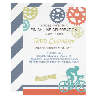 Invitation de vélo de route de cycliste