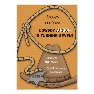 Invitation de vitesse de cowboy
