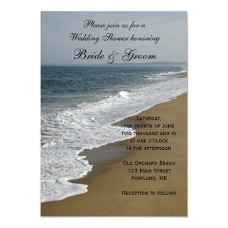 Invitation de wedding shower de plage