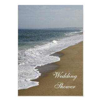 Invitation de wedding shower de plage et d'océan
