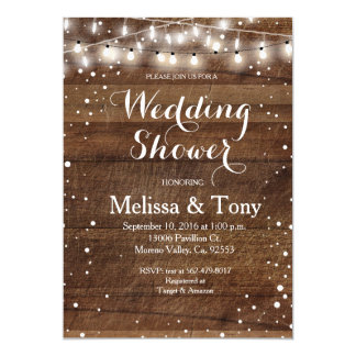 Invitation de wedding shower d'hiver