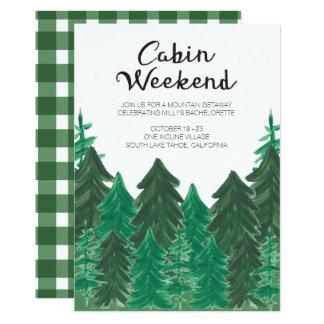 Invitation de week-end de cabine - week-end de