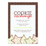 Invitation d'échange de biscuit de Noël