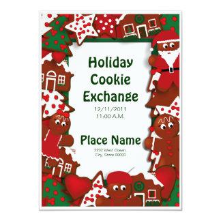 Invitation d'échange de biscuit de vacances