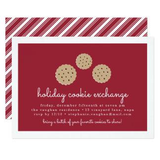 Invitation d'échange de biscuit de vacances de