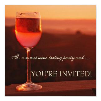 Invitation d'échantillon de vin de coucher du