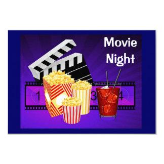 invitation d'écran de théâtre de soirée cinéma