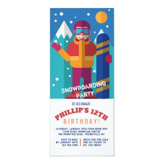 Invitation d'enfant de surf des neiges