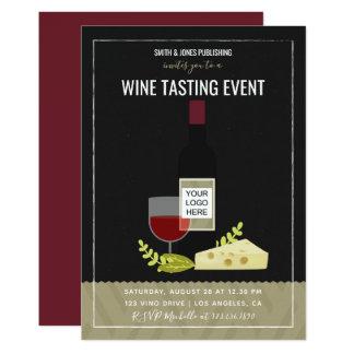 Invitation d'entreprise de vin et de fromage