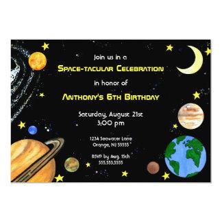 Invitation d'espace extra-atmosphérique