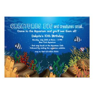 Invitation d'espèce marine
