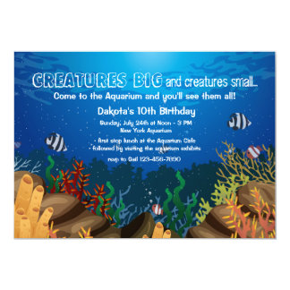 Invitation d'espèce marine carton d'invitation  12,7 cm x 17,78 cm