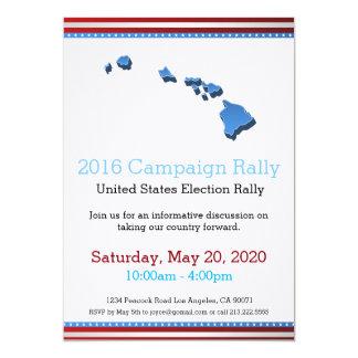 Invitation d'Hawaï de rassemblement de 2016
