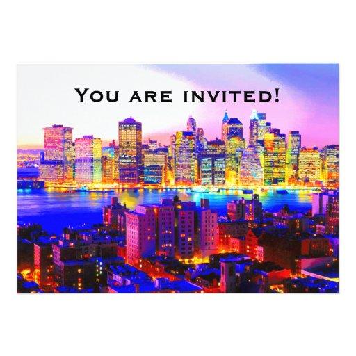 Invitation d'horizon de New York